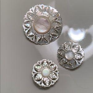 Vintage pin/earrings set